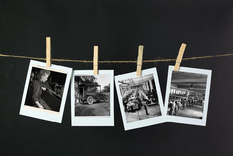 Packard Motor Car Company employees - vintage photos