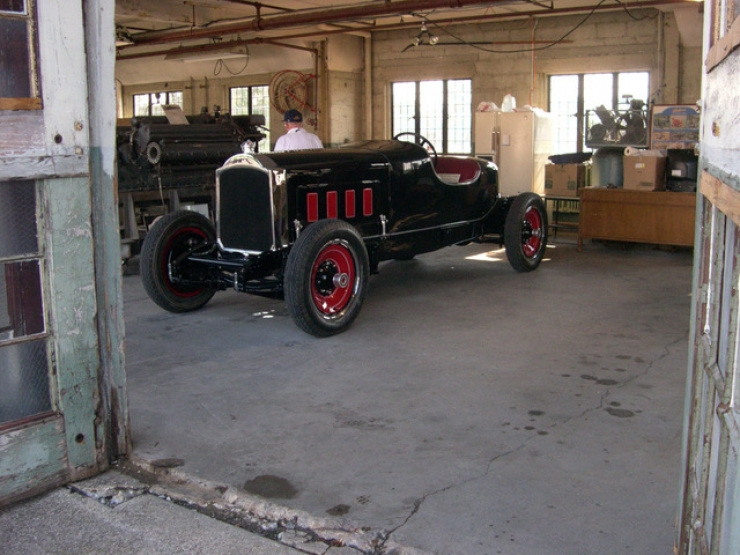 Lodge Garage Interior Before